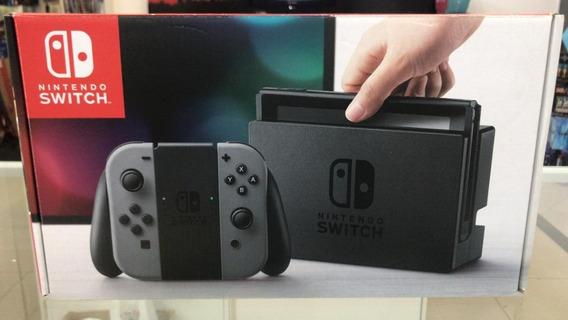 Console Nintendo Switch Gray Desbloqueável Completo Usado