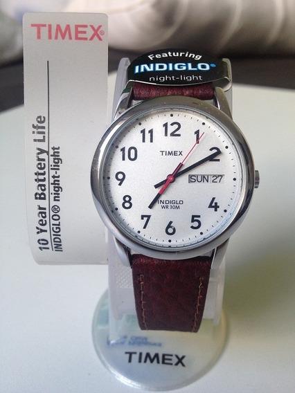 Relógio De Pulso Timex - Indiglo - À Prova Dágua