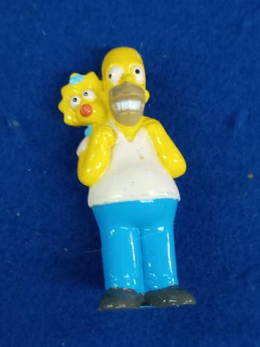 Homero Y Maggi * Los Simpson * Coleccion Jack Grande *