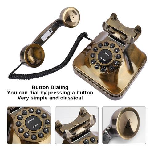 Wx-3011 Teléfono Retro Con Cable De Escritorio Vintage Teléf