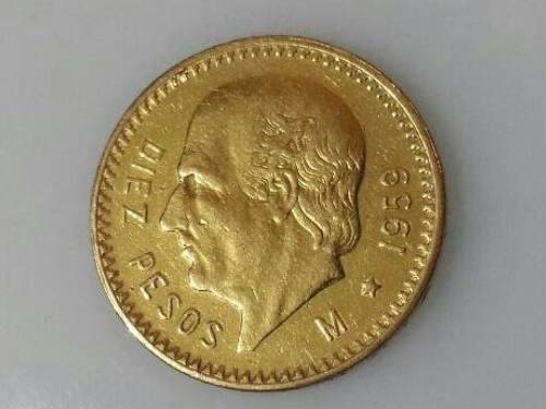 $10 Pesos De Oro Puro Hidalgo Centenario Moneda 22k