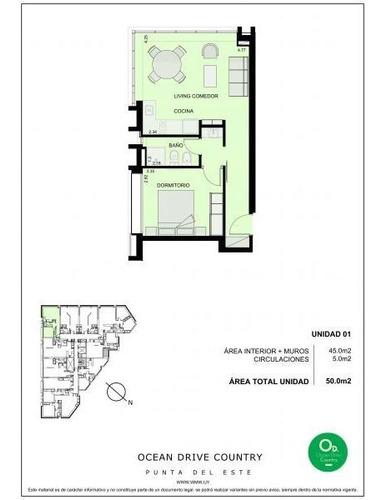 Apartamento En Venta De 1 Dormitorio En Roosevelt