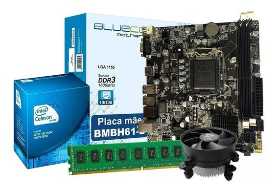 Kit Upgrade Core Intel + Placa Mãe Lga 1155 + 4gb Ddr3