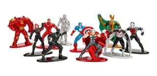 Nano Metal Figs Avengers X 10 Figuras 4cm Nuevo Caja Cerrada