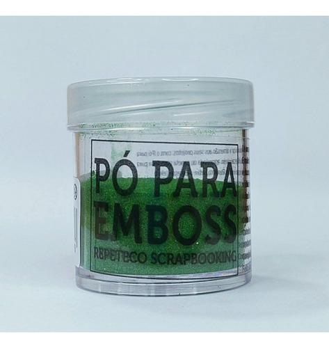 Imagem 1 de 1 de Repeteco - Pó Para Emboss Metálico - Cor Verde - 14gr