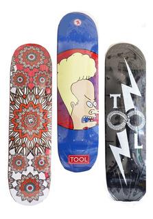 Tabla Skateboard Skate 7 Capas De Madera Maple Profesional