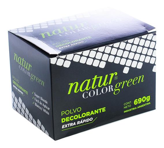 Natur Color Green Polvo Decolorante Extra Rápido Caja 690gr