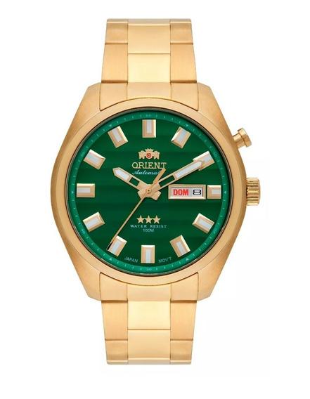 Relógio Orient Masculino Automático Dourado 469gp076 E1kx
