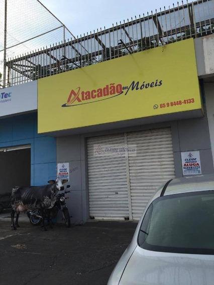 Salão Para Alugar Por R$ 1.800/mês - Av. Miguel Sutil - Poção - Cuiabá/mt - Sl0050
