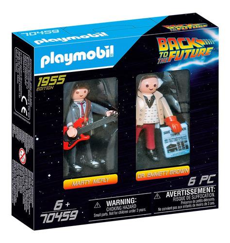 Imagen 1 de 5 de Playmobil Volver Al Futuro Muñecos Marty Y Doc Brown 70459