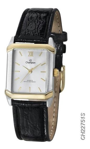 Relógio Feminino Champion Pulseira De Couro Original