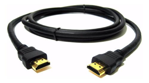 Cable Hdmi Negro Puntas De Oro  4k 1080 Hd