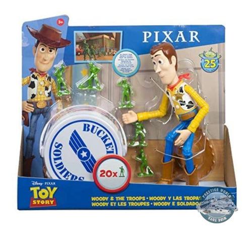 Disney Mattel Toy Story 25 Aniversario Woody Con Soldaditos!
