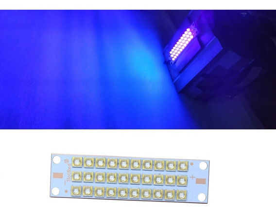 Kit Chip Led 100w 60º Uv Ultra Violeta +driver +dissipador