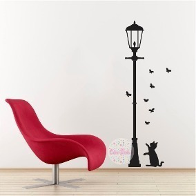 Vinil Decorativo Pared Gatos