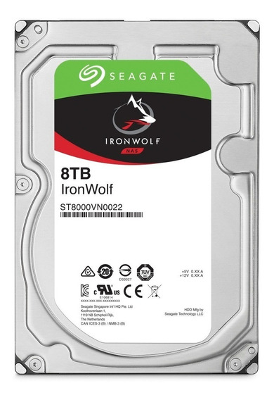 Disco Rigido Seagate Ironwolf 8tb 256mb 7200rpm 1