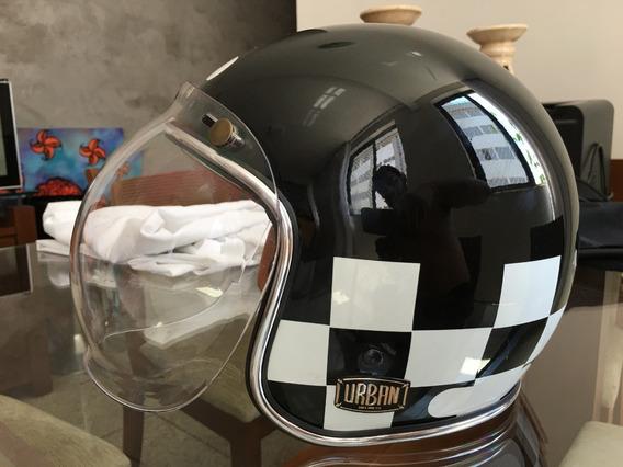 Capacete Urban Helmet Open Face Com Viseira Transparente