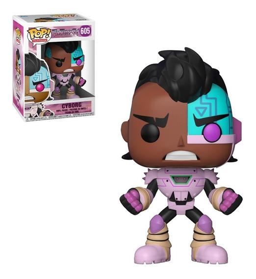 Figura Funko Pop Tv Jovenes Titanes - Cyborg 605