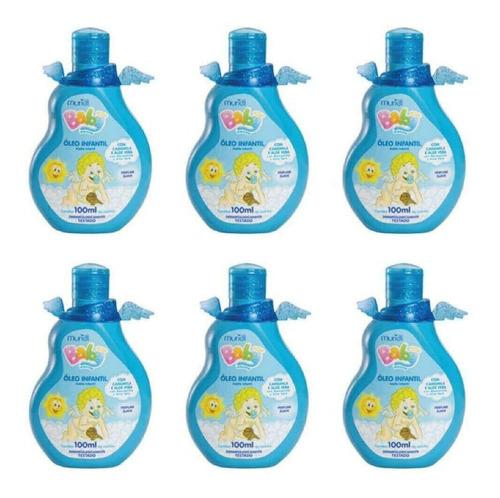Imagem 1 de 1 de Muriel Baby Óleo Azul 100ml (kit C/06)