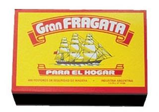 Fósforos Gran Fragata Pack 12 Cajas De 400 Unidades