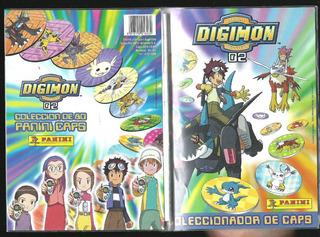 * Album Coleccionador Vacio De Tazos Digimon 2 De Panini