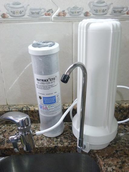 Purificador Agua Sobremesada + Filtro Carbón Activado Matrikx
