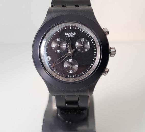Relógio Swatch Irony Svcf4000ag Preto Original Pouco Usado