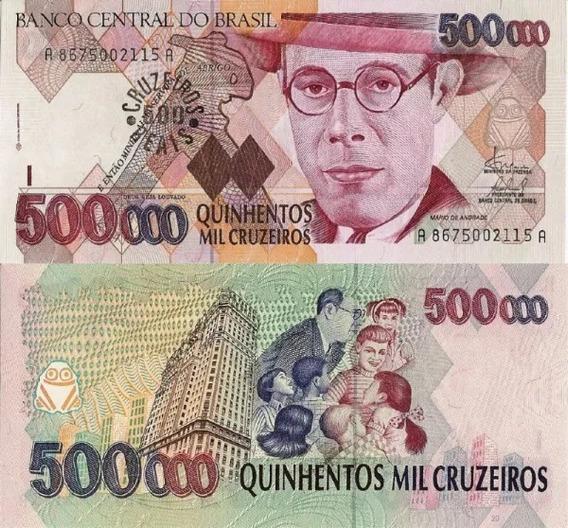 Cedula C 236 500 Cruzeiros Reais 1993 - Fe