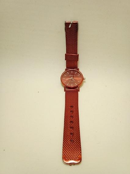 Relógio Feminino Analógico Pulseira Malha Aço Inoxidável