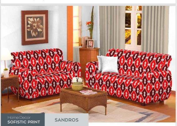 Capa De Sofá Em Malha 2 E 3 Lugares Estampada Avista