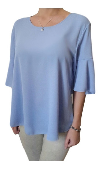 Blusa Camisola De Gasa Mujer - Talle Especial Grandes