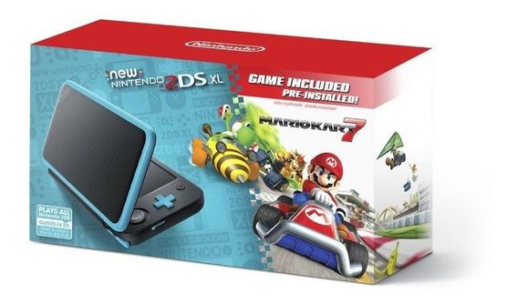 Nintendo New 2ds Xl Na Caixa Com Cartão 64gb +d 40 Brindes