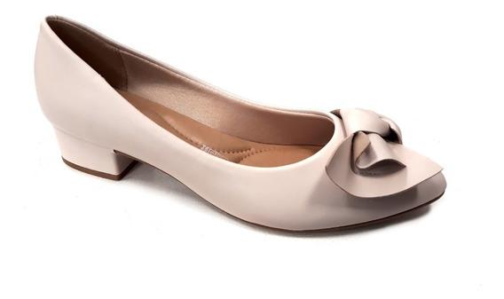 Zapato Mujer Beira Rio Clasico Taco Ancho 5cm Moño