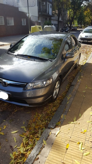Honda Civic 1.8 Lx 2007 At Automatic Gris Service Oficiales