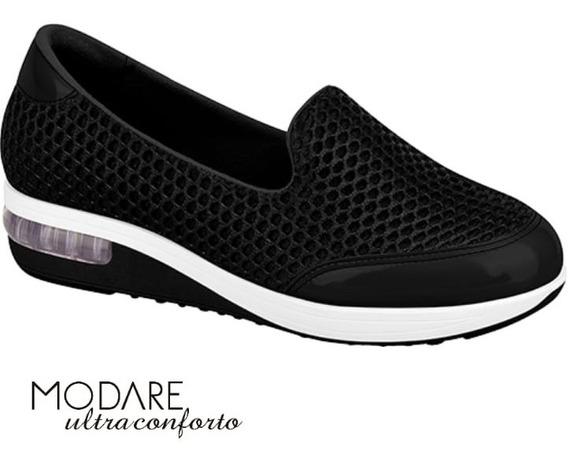 Tênis Feminino Casual Modare Ultraconforto Preto 7320.201