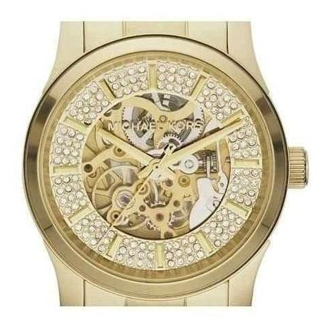 Relógio Michael Kors Automático Mk9009 Dourado 100% Original