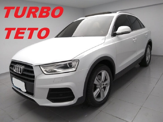 Audi Q3 Branca Com Teto Couro Turbo Bx Km Troco Finan 2016