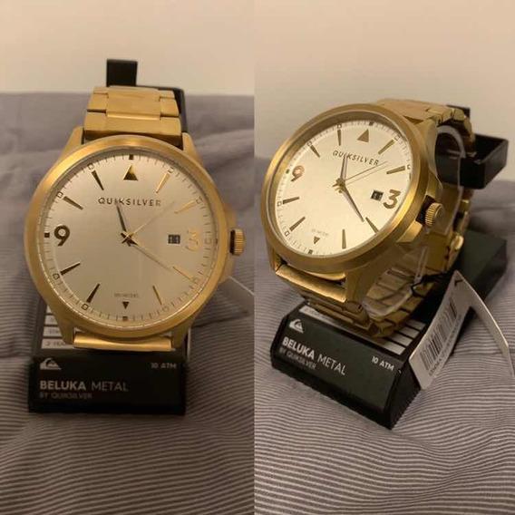 Relógio Quiksilver Beluka Dourado - Novo