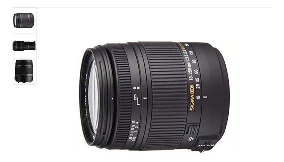 Lente Sigma Dc Macro Os Hsm 18-250mm F3.5-6.3 Para Nikon D 1