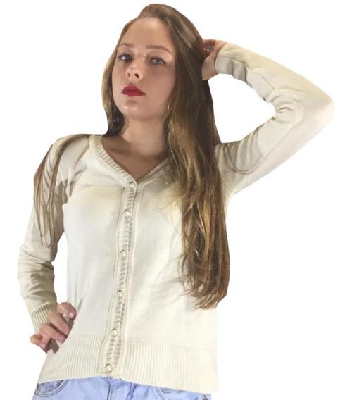 Cardigan Feminino De Botão Moda Blogueira Casaquinho Tricot