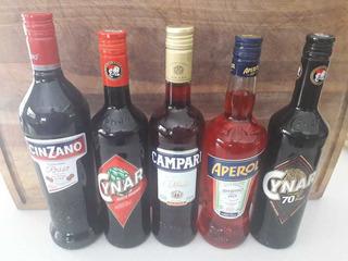 Campari, Cynar, Aperol, Cinzano