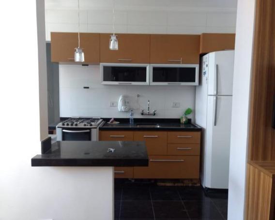 Apto Mobiliado - Com 2 Dorm , 2 Banheiros, Sala , Cozinha Americana, 01 Vaga - 65m² - Lazer No Predio - L888 - 34565373