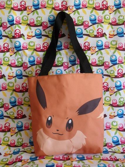 Mini Tote Bag Cartera De Anime Pokemon Eevee Super Cute!