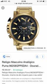 Relógio Puma Analógico Dourado