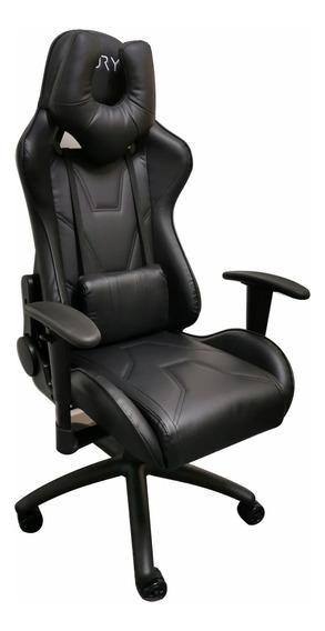 Cadeira Gamer Fury 7005 - Braço Ajustável, Reclin 180º Preta