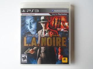 L.a. Noire Ps3 Rockstar Games 2011 Físico