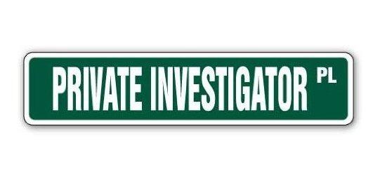Investigador Privado Cartel De La Calle Agencia De Detective