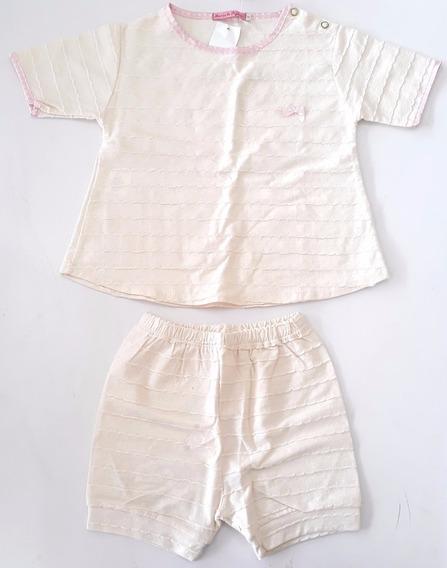 Pijama Menina Bebê Com Acabamento Em Cetim - Mania De Pijama