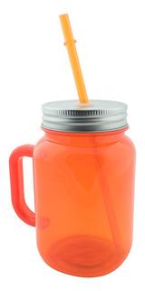 Botella De Plástico De 600 Ml Decorazone Dw8057 Naranja