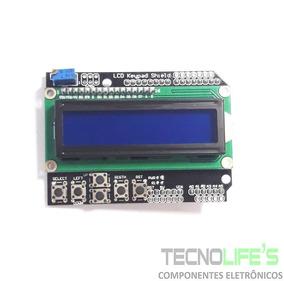 Shield Display Lcd 16x2 Keypad Teclado Com Botões Arduino